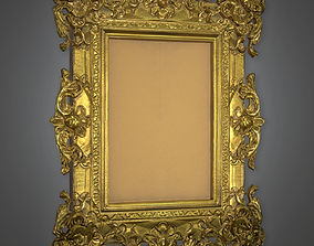 Fancy Picture Frame Antiques - PBR Game Ready 3D model