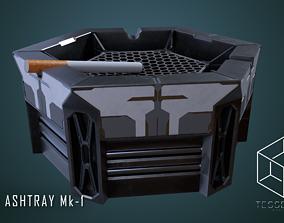 3D model SciFi Ashtray Mk-1