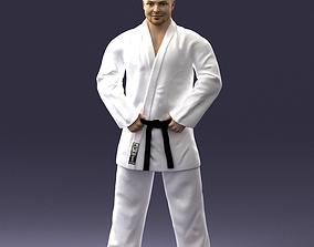 Karate man 1105 3D print ready