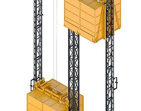 3D model Industrial lift - 1000 kg STATIC PLUS