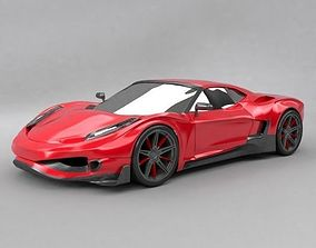 Generic supercar design 3D