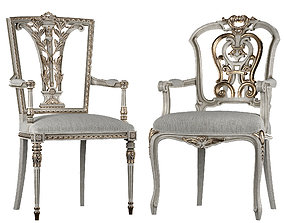 Ebanista Dauphine chairs 3D model realtime