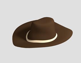 Low Poly Cartoon Cowboy Hat 3D model