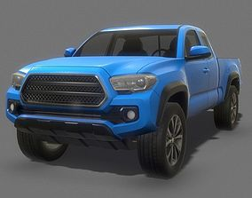 Toyota Pickup Truck Low Poly 3D asset