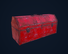 3D model low-poly Toolbox case