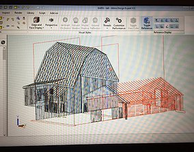 3D print model Old Barn