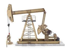 3D model Oil Pumpjack Animated 3