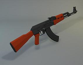 Low Poly AK-47 3D asset