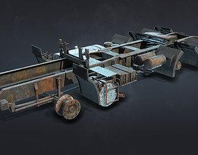 3D model Semi-Trailer Truck Frame Rusty