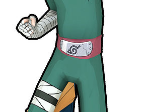 Rock lee 3D asset