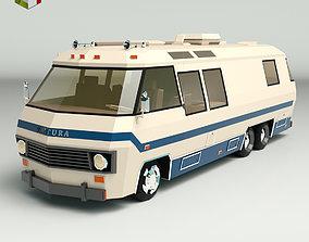 Low Poly Motorhome 04 3D asset