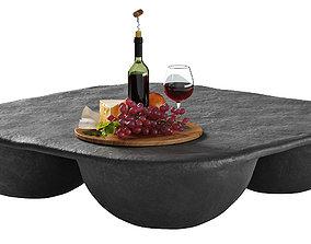 3D model Quad Coffee Table Black