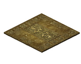 call Game Model - stone carved ground surface 02