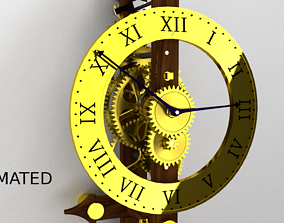 3D animated time Clock