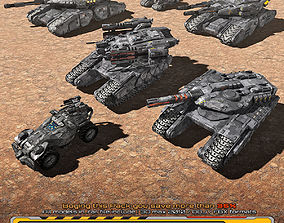 3D asset 6 SF Low-res Ground Units