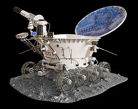 Moonrover Lunokhod-1 space 3D