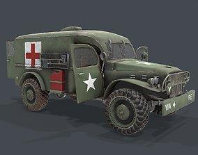 Military ambulance Dodge WC54 3d model realtime