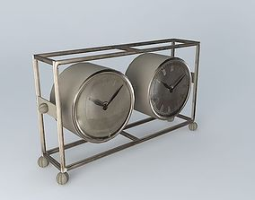 3D model FRANKLIN clock houses the world