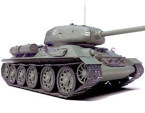 3D model Tank T-34 battle