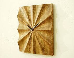 Wall clock 3d model for CNC router P4-004