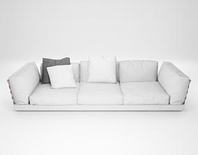 Furniture series - modern sofa - 16 3D asset