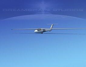 SZD-36 Cobra Glider V01 3D asset rigged