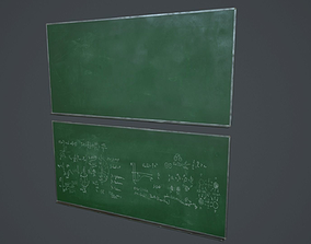 3D asset Green Chalkboard PBR Game Ready