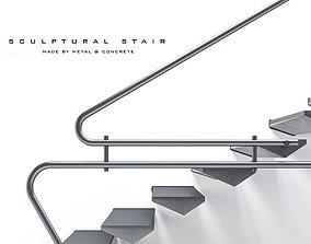 Metal-stair-01 3D