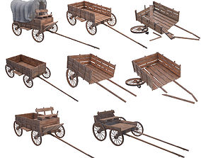 wooden wagons 3D