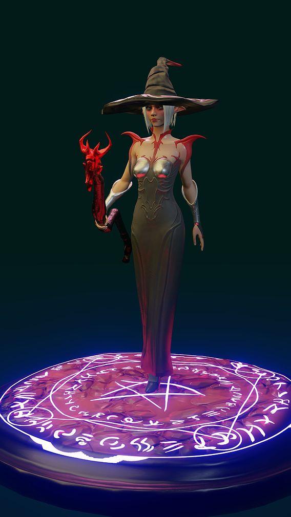 Female magician elf warrior