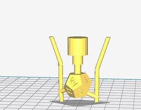 3D printable model Sprued up D12 for Lost PLA Casting