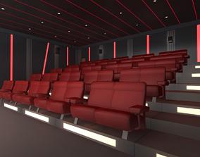 Modern Cinema Hall 3D asset