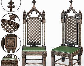 3D Gothic Throne interior