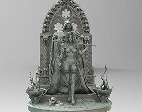 3D printable model Lady Death diorama
