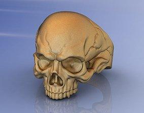 3D print model Jewelry Crack Men Skull Ring