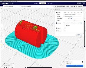 Cross dowel M6xD10x13 3D printable model