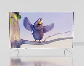 Modern TV Plasma Display 3D model