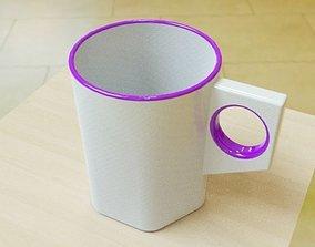 Simple stylish mug 3D printable model