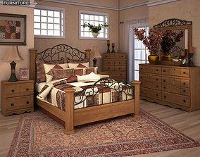 3D asset Ashley Rosalie Poster Bedroom Set