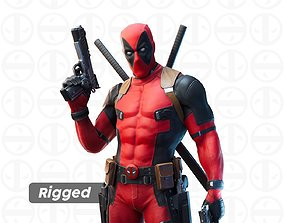 Deadpool rigged 3d model rigged