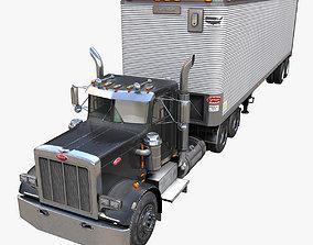 3D asset Peterbilt 359 industrial dry trailer