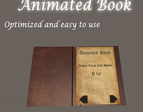 Animated Book 3D asset
