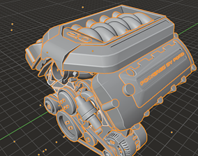 3D model Ford Coyote Engine