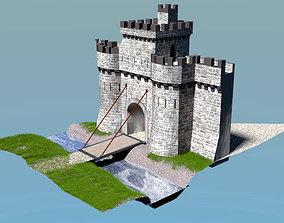 Castle Gate 3D asset