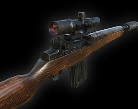 3D model M14 Rifle - Low Poly