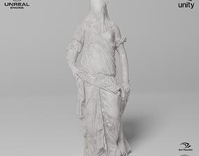 Veiled Woman Sculpture VR AR Mobile-ready 3D model 1