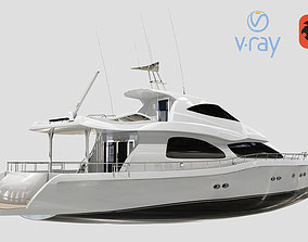 3D asset Luxury Yacht Low Poly