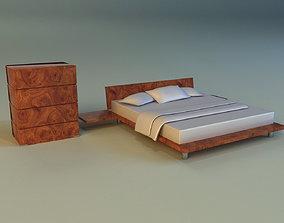 Bed pattern wood 3D model