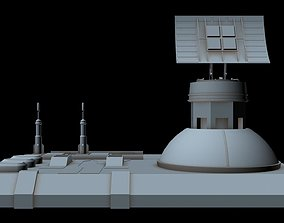 spacecraft 3D model Sci-fi Radar station 3