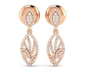 precious Women earrings 3dm stl render detail